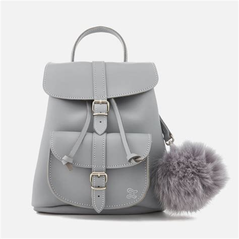 Backpack Leather Grey grafea s small backpack grey