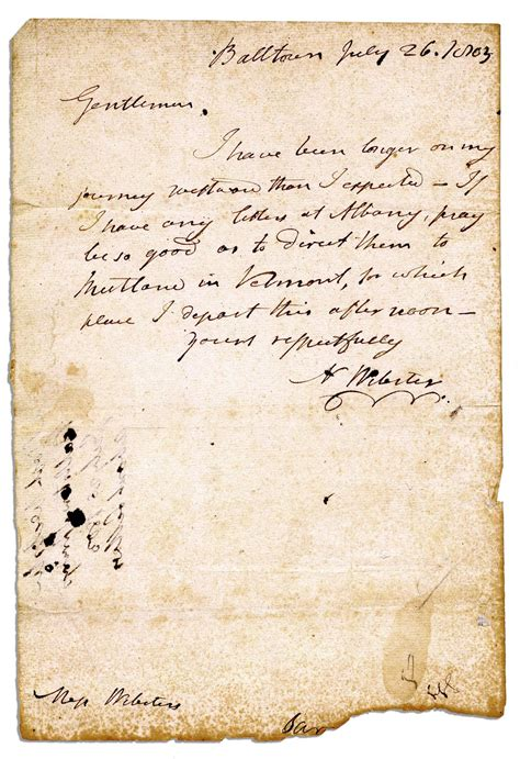 Webster Acceptance Letter Lot Detail Noah Webster 1803 Autograph Letter Signed Written Three Years Before