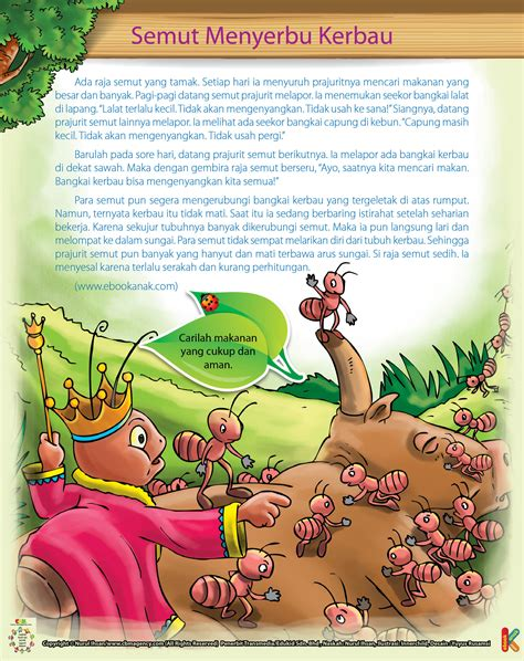 cerbin gajah dan raja abrahah kerbau dan raja semut yang tamak ebook anak