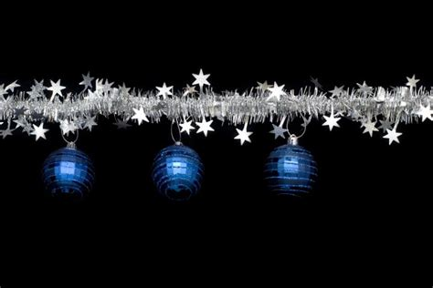 tinsel decorations photo of tinsel and bauble border free images
