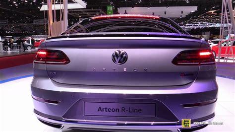 volkswagen arteon rear 2018 volkswagen arteon r line at 2017 geneva motor show
