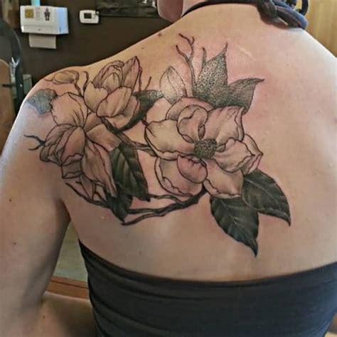 flower tattoo girl back 60 awesome magnolia flower tattoo made ever golfian com