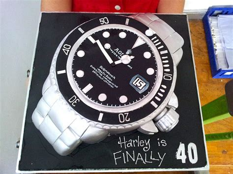 3d rolex watch shaped wicked chocolate cake covered in fon flickr