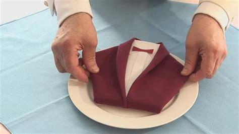 fold  dinner jacket napkin figury iz salfetok