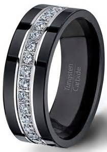 mens black wedding band black tungsten ring fully stacked with brilliant mens wedding band comfort fit black