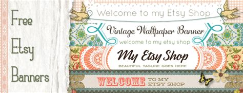 etsy banner templates free etsy banners vintage design starsunflower studio
