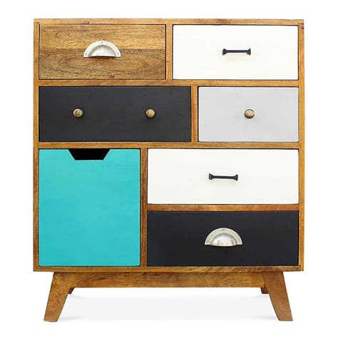 vintage multi coloured chest of drawers cult living jasmine multi coloured chest of drawers cult