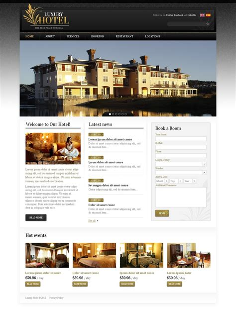 Hotels Website Template Web Design Templates Website Templates Download Hotels Website Hotel Website Templates