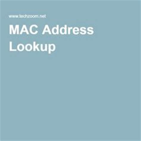 Mac Address Hardware Lookup 1000 Images About Techy On Mac Address Your