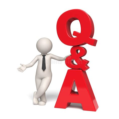 A Up And Some Questions Answered by Q A Icon Questions And Answers 3d Stock