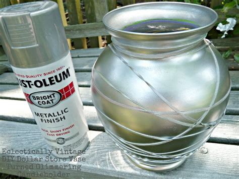Can You Paint Glass Vases by Glass Craft Turn An Vase Into A Mercury Glass