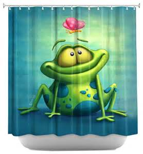 Frog Shower Curtains Shower Curtain Artistic The Frog Ii Contemporary Shower Curtains By Dianoche Designs