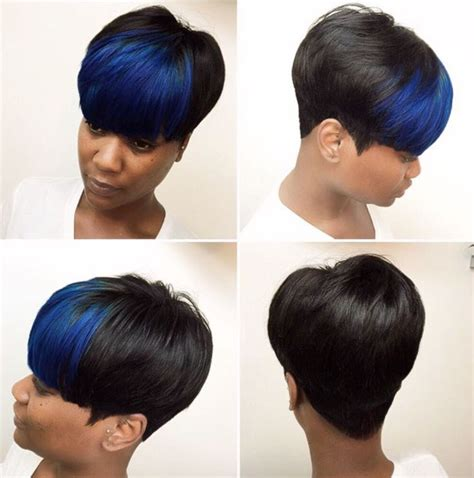 phot gallery short hair sew in blue bangs via hairbylatise http community