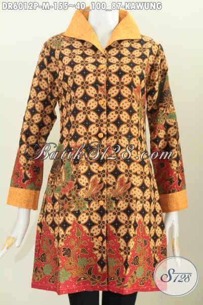 Pakaian Murah Gamis Motif Kombinasi S M L Xl 1 dress batik klasik motif kawung pakaian batik elegan bahan kombinasi kain embos kwalitas