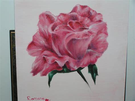 acrylic painting roses acrylic painting by hitokui on deviantart