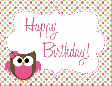 printable owl birthday card owl birthday party free printables