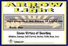 Arrow Of Light Certificate Template Free Printable Arrow Of Light Certificate Template Arrow