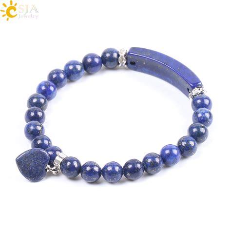Beaded Bangles Handmade - aliexpress buy csja high quality lapis lazuli