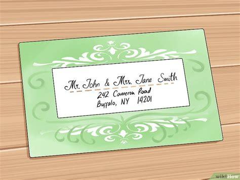 Hochzeitseinladungen Beschriften by Hochzeitseinladungen Adressieren Wikihow