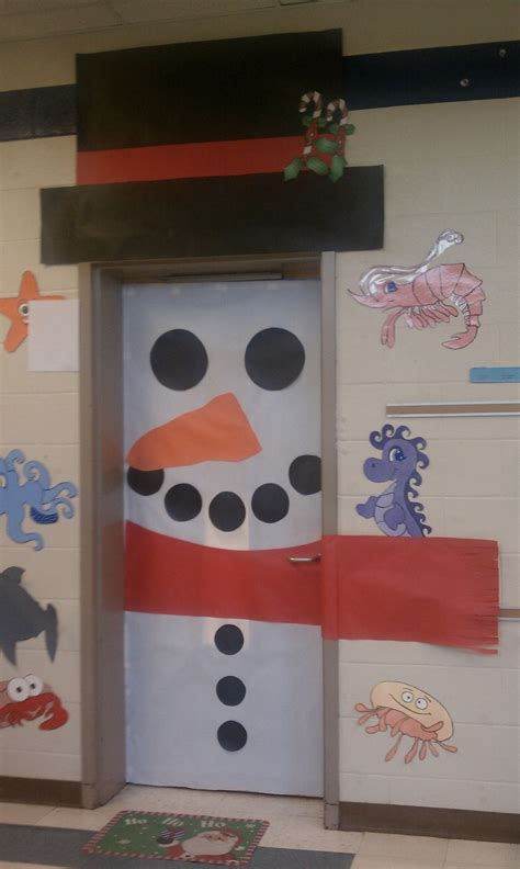 Snowman Door by Snowman Door School Ideas Doors Snowman