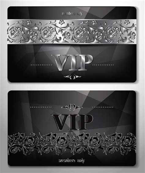 Free Vip Card Template by 30 Beautiful Free Vector Cards For Various Events