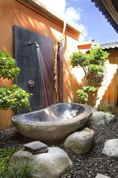 nice Small Wall Decor Ideas #4: gorgeous-outdoor-bathroom.jpg