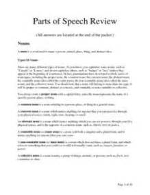 parts of speech 7th grade review 1000 ideas about parts