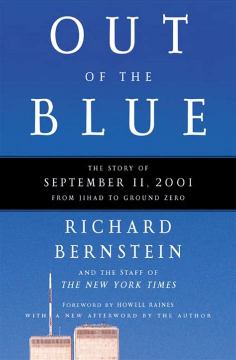 out of the blue books out of the blue richard bernstein macmillan