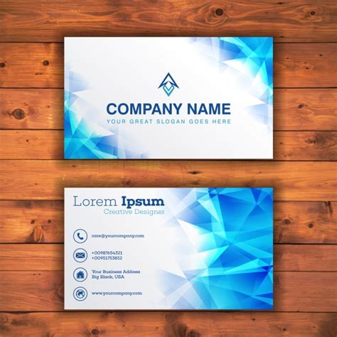 pale blue business card template free light blue business card template vector free