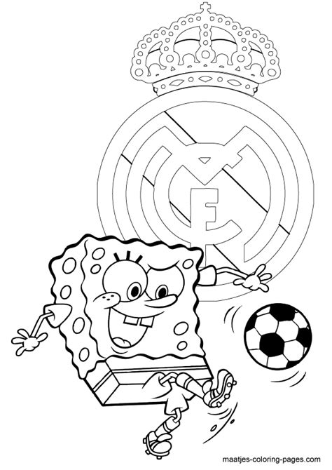 real madrid logo coloring pages free printable real best