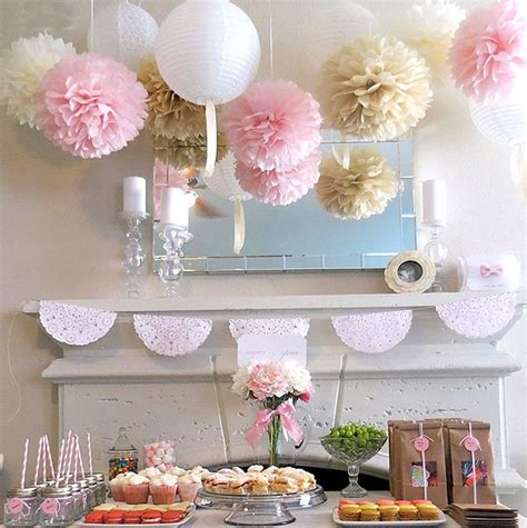 home decor party lot tissue paper pom flowers bridal wedding birthday party