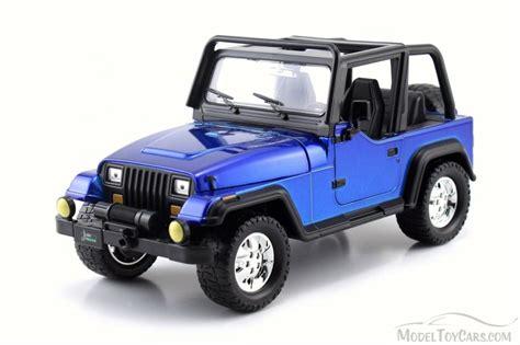 Jeep Toys 1992 Jeep Wrangler Blue 98081wa 1 24 Scale