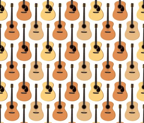 printable acoustic fabric acoustic guitars fabric jannasalak spoonflower