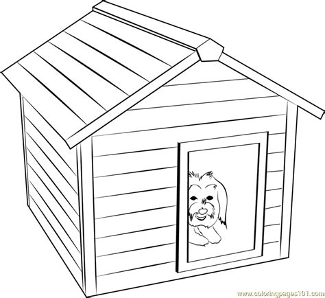dog house coloring page printable doghouse coloring pages