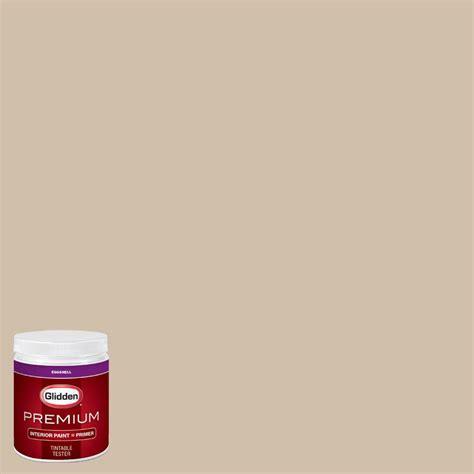 glidden premium 8 oz hdgwn07 desert sand eggshell interior paint with primer tester