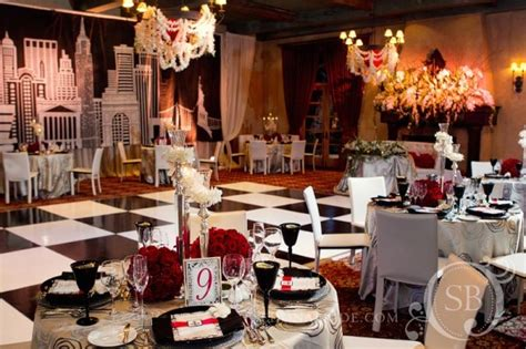 new york themed wedding decorations white themed club interior decorating accessories
