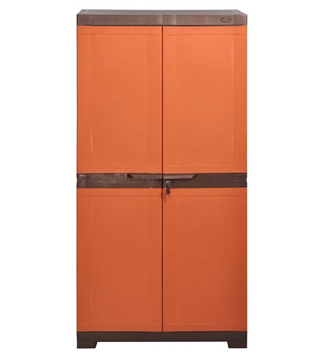 nilkamal kitchen cabinets nilkamal freedom shoe cabinet weather brown and rust by