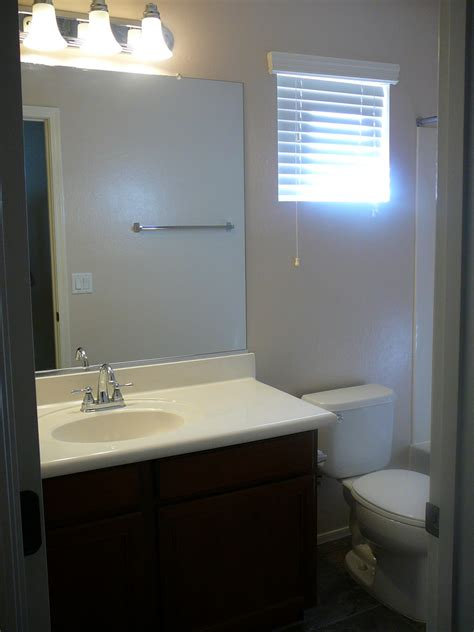 focal point styling rental restyle small bath space decor awkward window challenge