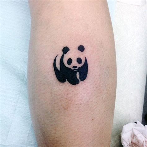 small tattoo symbol small simple mens universal panda symbol