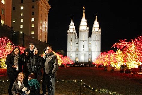 temple square christmas lights honoring the savior s birth