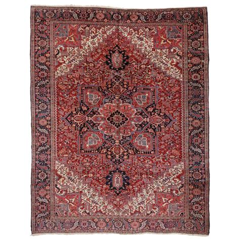 semi antique rugs semi antique heriz rug with modern style for sale at 1stdibs