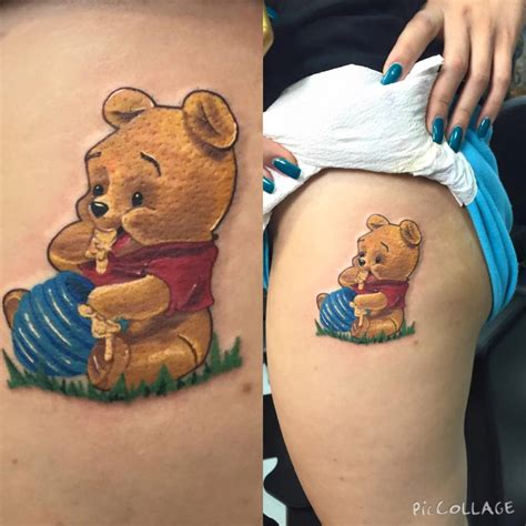 pooh bear tattoos winnie the pooh with honey pot best design ideas