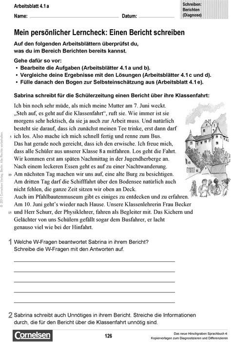 einen bericht schreiben 220 bung f 252 r den deutschunterricht klasse