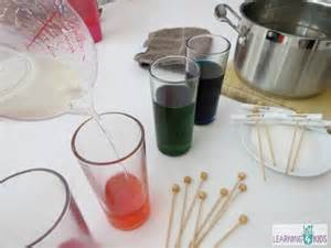 how to make sugar crystals on a stick learning 4 kids