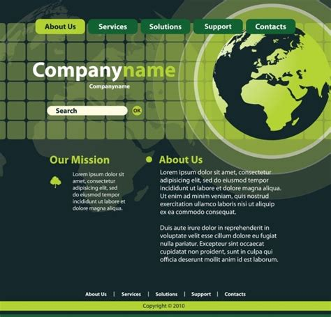 templates for technology website sense of technology website template 01 vector free vector