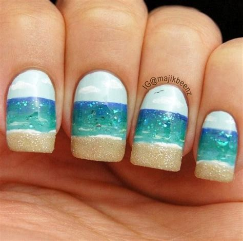 good nail color for the beach nail the beach with art beach bliss living