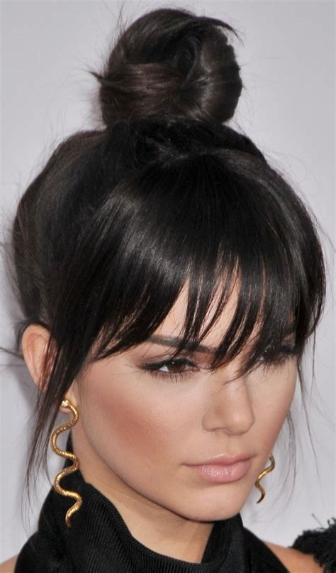 Bangs Haircut 2016 Updo Hairstyles With Fringe Black Hair Collection   Popular Long Hairstyle Idea