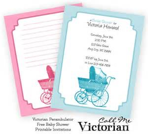free printable perambulator baby shower invitations call me