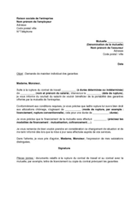 modele lettre resiliation contrat prevoyance