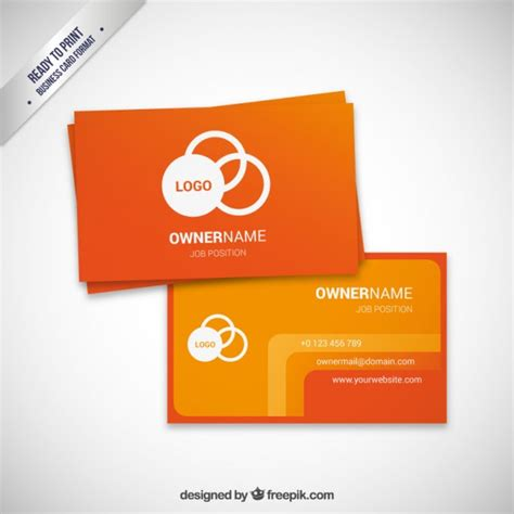 visit card template ai orange visit card template vector free